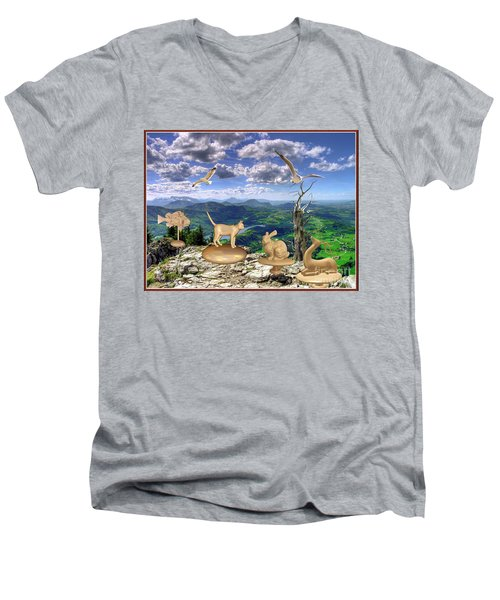 Statues Of The Rock Men's V-Neck T-Shirt
