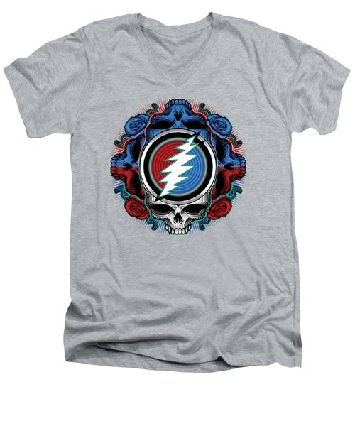 Steal Your Face - Ilustration Men's V-Neck T-Shirt