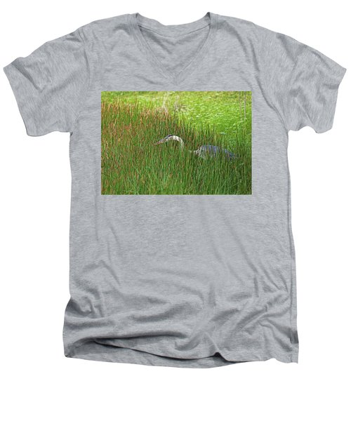 Stealth Heron Men's V-Neck T-Shirt