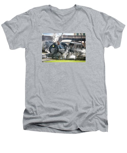 Steam Engine #30 Men's V-Neck T-Shirt