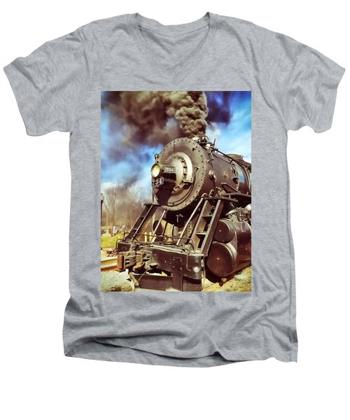 Steam Engine Men's V-Neck T-Shirt