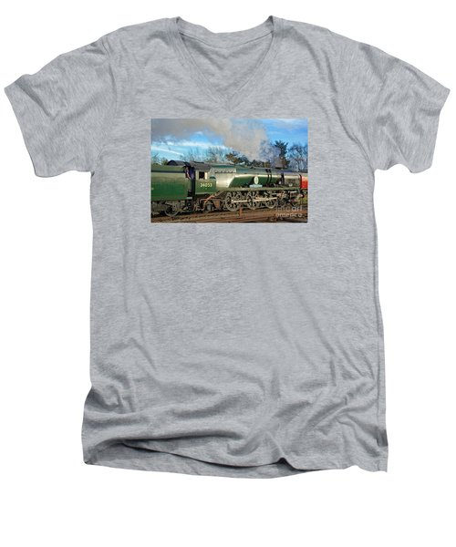 Steam Locomotive Elegance Men's V-Neck T-Shirt