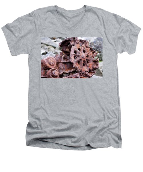 Steam Shovel Number Two Men's V-Neck T-Shirt by Kandy Hurley