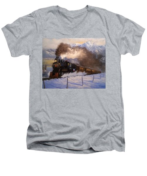 Steamin South Men's V-Neck T-Shirt