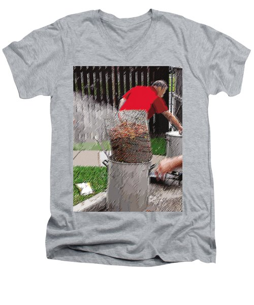 Steaming Mud Bugs For Falvor Men's V-Neck T-Shirt