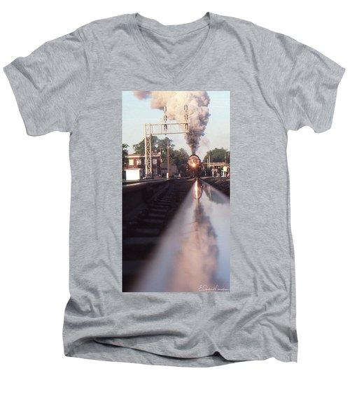 Steaming Up Men's V-Neck T-Shirt by Gordon Mooneyhan