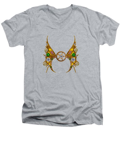Steampunk Fairy Men's V-Neck T-Shirt