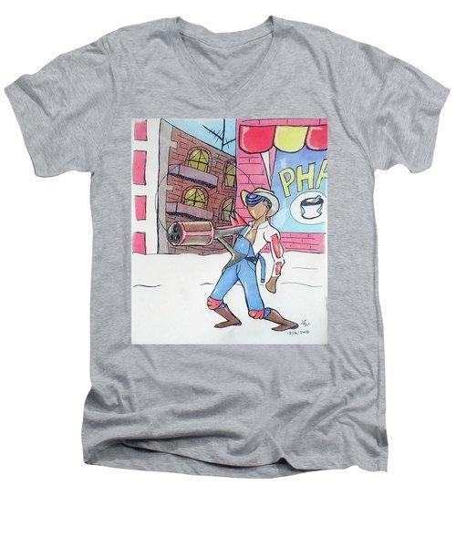 Steampunked Hillbilly Men's V-Neck T-Shirt