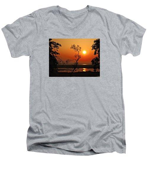 Steamy Summer Sunrise Men's V-Neck T-Shirt