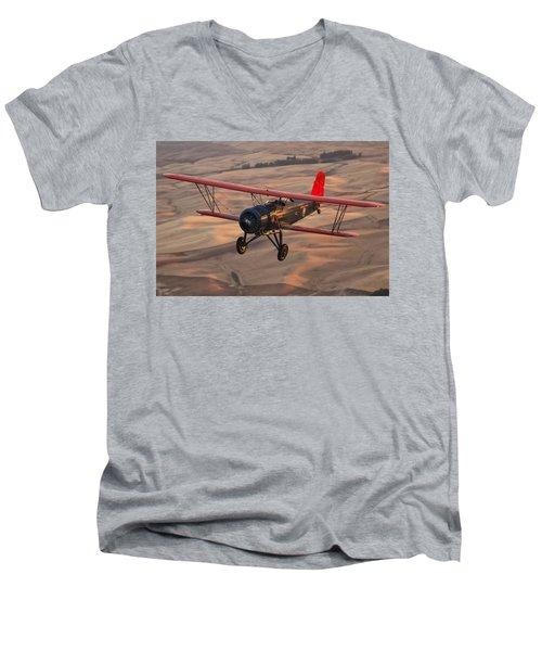 Stearman Model 4dm Sr. Speedmail Men's V-Neck T-Shirt