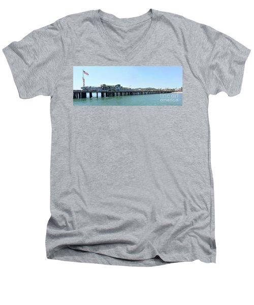 Stearns Wharf 2 Men's V-Neck T-Shirt