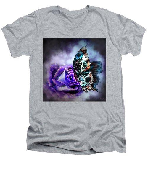 Steel Butterfly Men's V-Neck T-Shirt