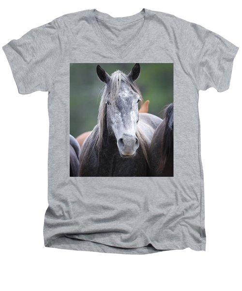 Steel Grey Men's V-Neck T-Shirt