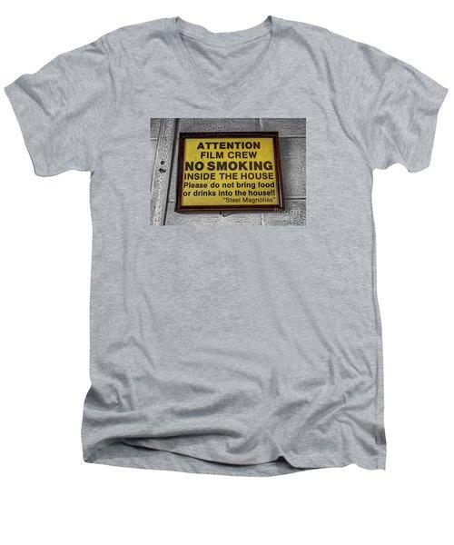 Men's V-Neck T-Shirt featuring the photograph Steel Magnolias Memorabilia by Paul Mashburn