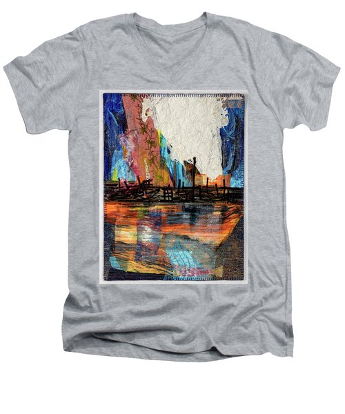Steel Mills At Night Men's V-Neck T-Shirt