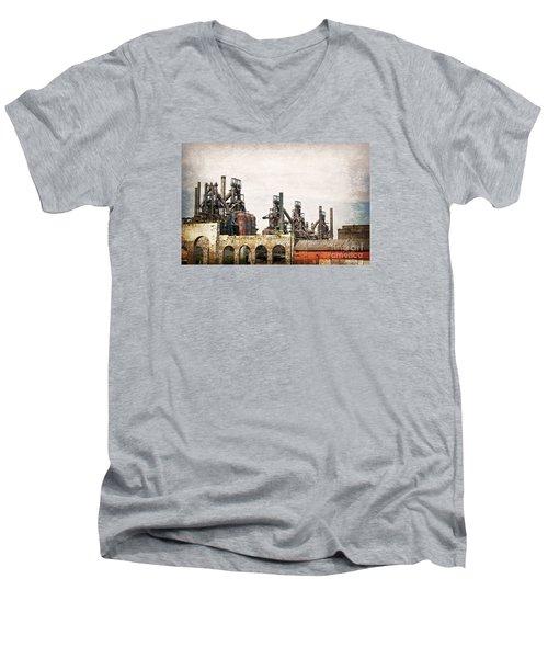 Steel Stacks  Men's V-Neck T-Shirt