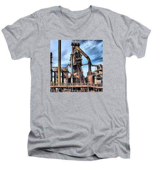 Steel Stacks Bethlehem Pa. Men's V-Neck T-Shirt