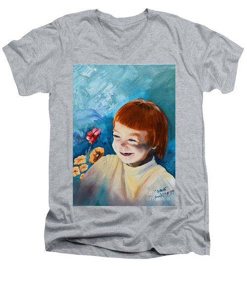 Stefi- My Trip To Holland - Red Headed Angel Men's V-Neck T-Shirt