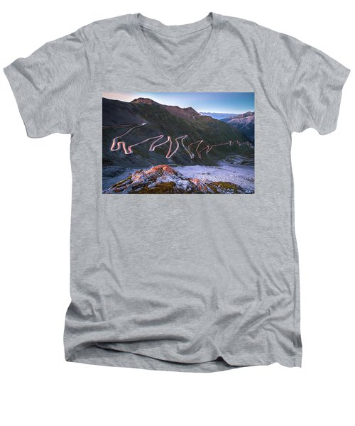 Stelvio Pass Men's V-Neck T-Shirt