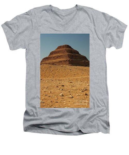 Step Pyramid Men's V-Neck T-Shirt