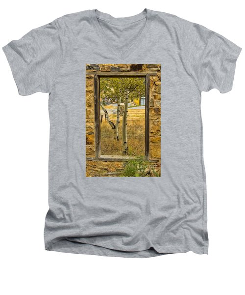 Step Through Men's V-Neck T-Shirt by Steven Parker
