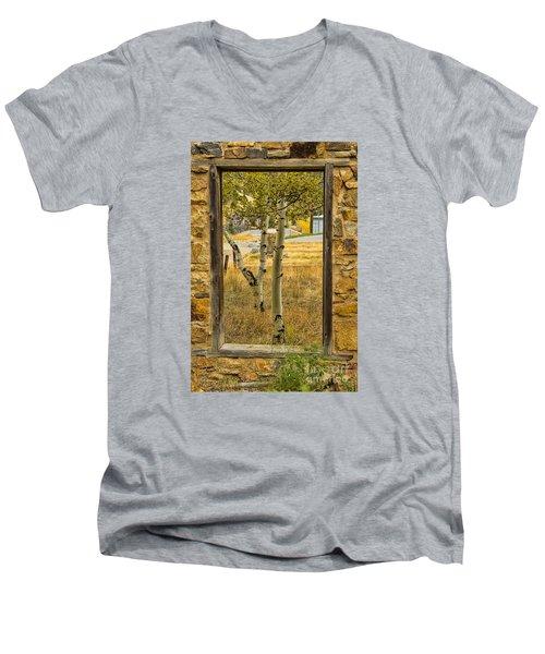 Step Through Men's V-Neck T-Shirt