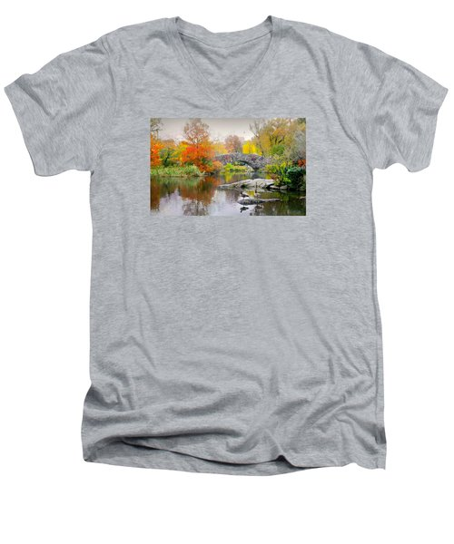 Stepping Stones Men's V-Neck T-Shirt by Diana Angstadt