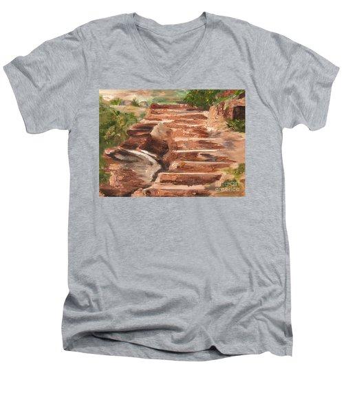 Steps To Zion Men's V-Neck T-Shirt