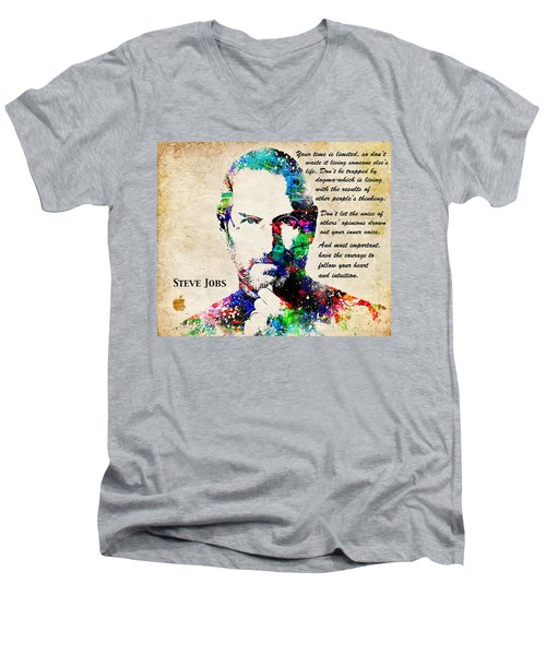Steve Jobs Portrait Men's V-Neck T-Shirt