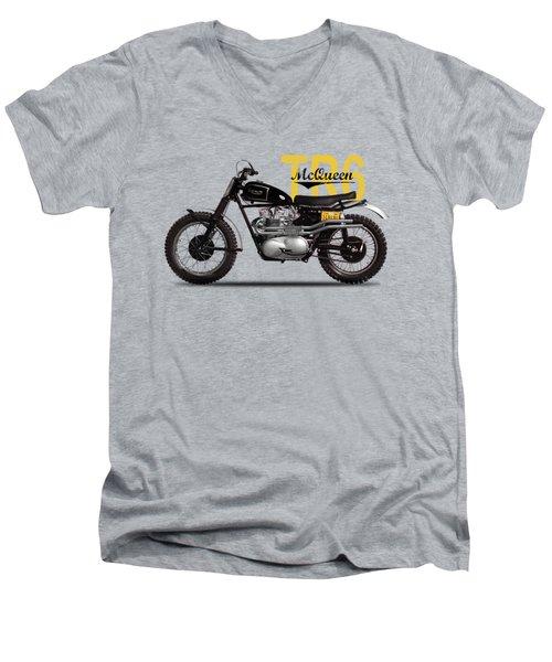Steve Mcqueen Desert Racer Men's V-Neck T-Shirt