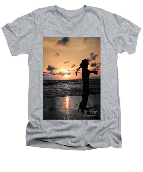 Still By Sea Men's V-Neck T-Shirt by Rushan Ruzaick