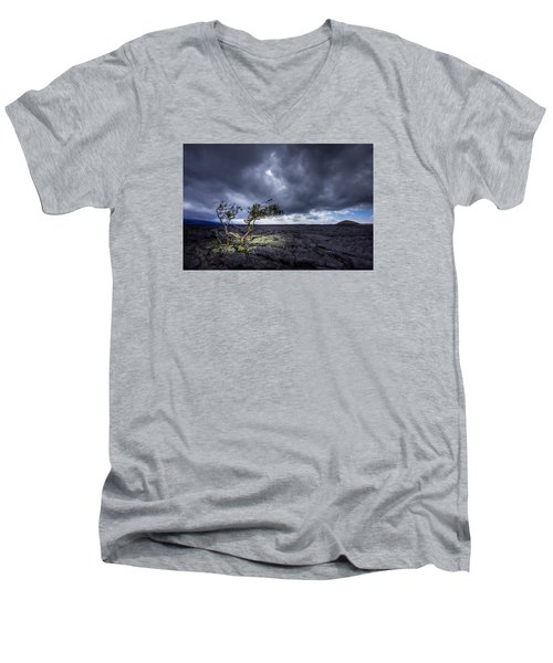 Men's V-Neck T-Shirt featuring the photograph Still Fighting by Dan Mihai