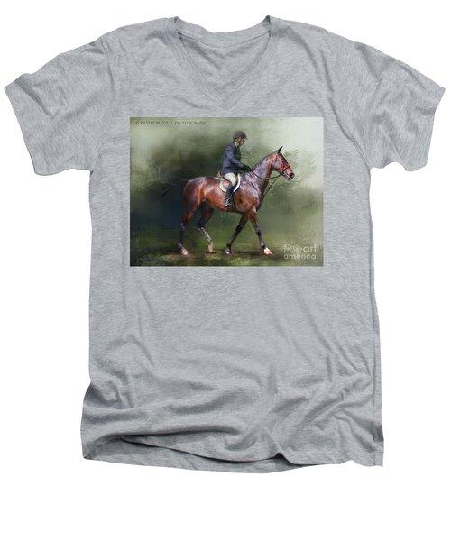 Still Learning Men's V-Neck T-Shirt by Kathy Russell