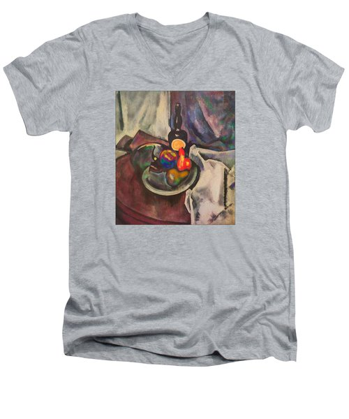 Still Life. Homage To A.v. Kuprin Men's V-Neck T-Shirt
