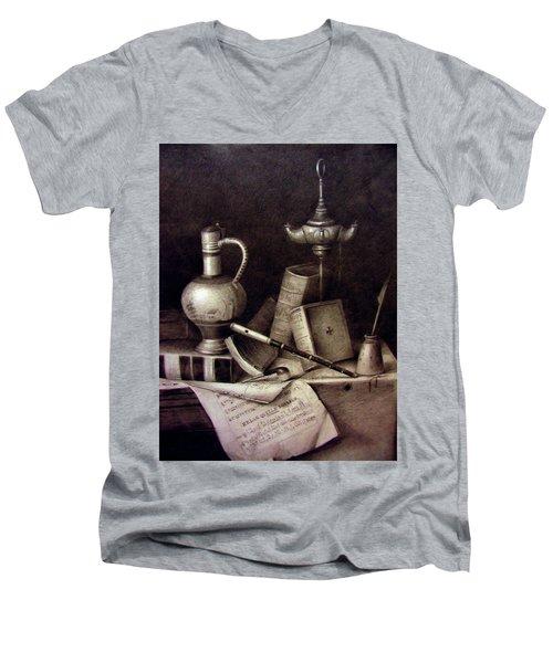 Still Life In Pencil Men's V-Neck T-Shirt