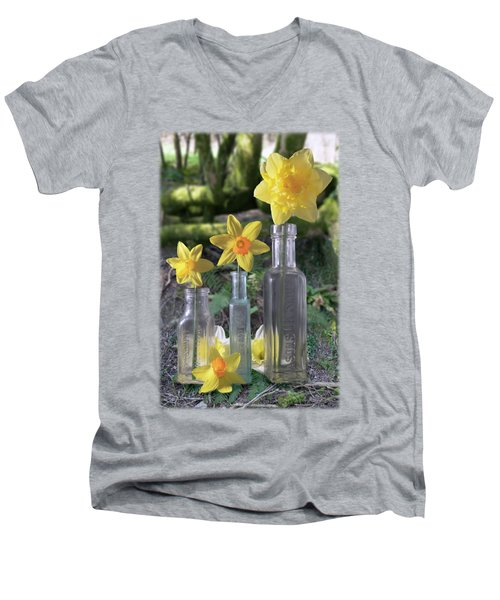 Still Life In The Woods Men's V-Neck T-Shirt