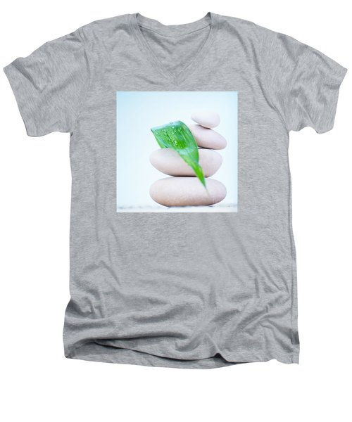 Still Life Of Spa Stones Men's V-Neck T-Shirt