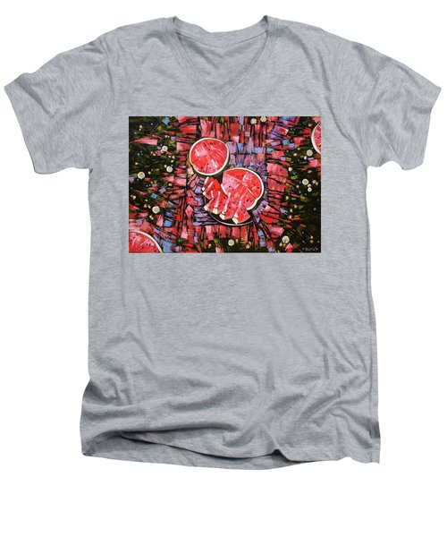 Still Life. The Taste Of Summer. Men's V-Neck T-Shirt
