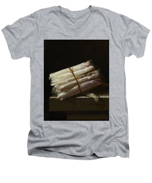 Still Life With Asparagus, 1697 Men's V-Neck T-Shirt