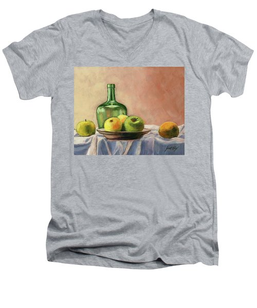 Still Life With Bottle Men's V-Neck T-Shirt
