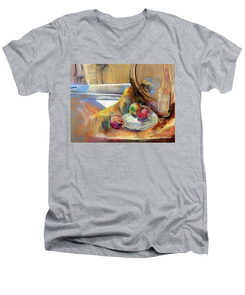 Still Life With Onions Men's V-Neck T-Shirt