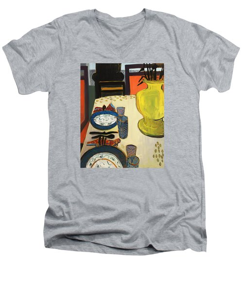 Still Life With Two Plates Men's V-Neck T-Shirt