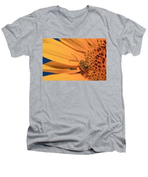 Men's V-Neck T-Shirt featuring the photograph Still Sleeping by Chris Berry