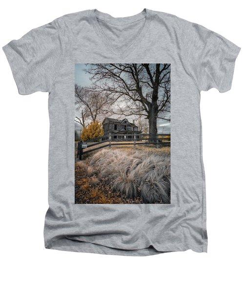 Still Standing Ir Men's V-Neck T-Shirt by Paul Seymour