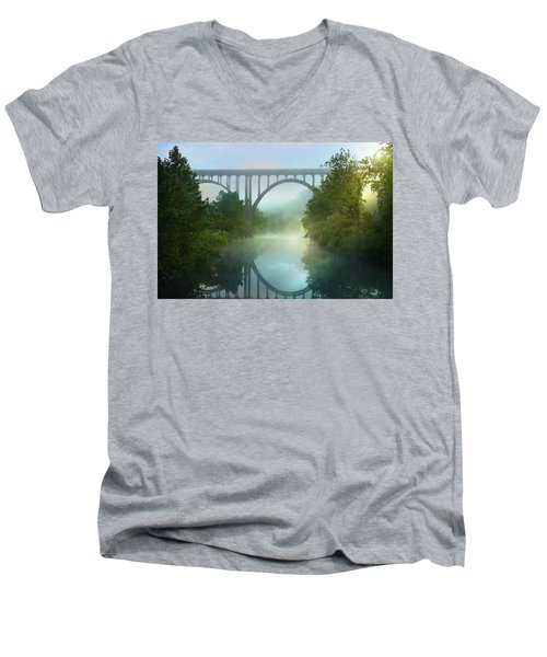 Still Standing Men's V-Neck T-Shirt by Rob Blair