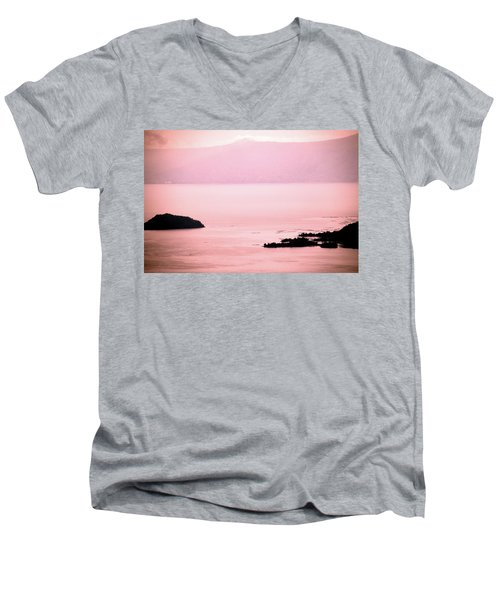 Still The Day Begins Men's V-Neck T-Shirt by Jez C Self