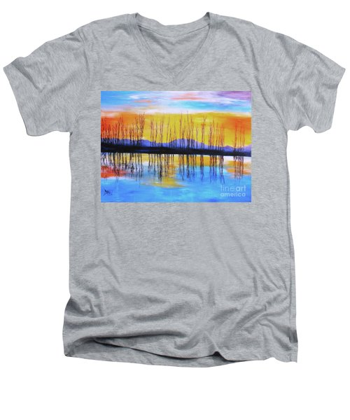 Still Waters From The Water Series  Men's V-Neck T-Shirt by Donna Dixon