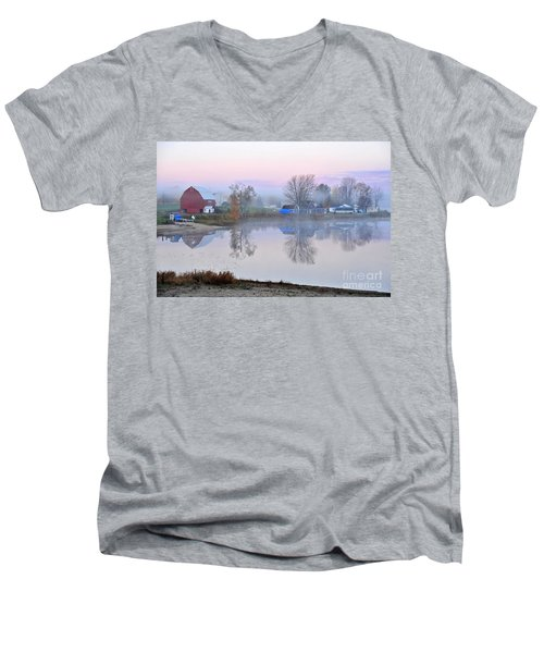 Still Waters On Stoneledge Lake Men's V-Neck T-Shirt