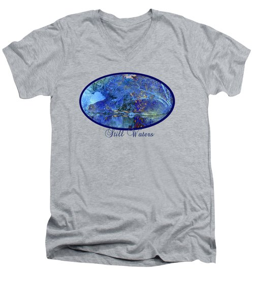 Still Waters Men's V-Neck T-Shirt by Phyllis Denton