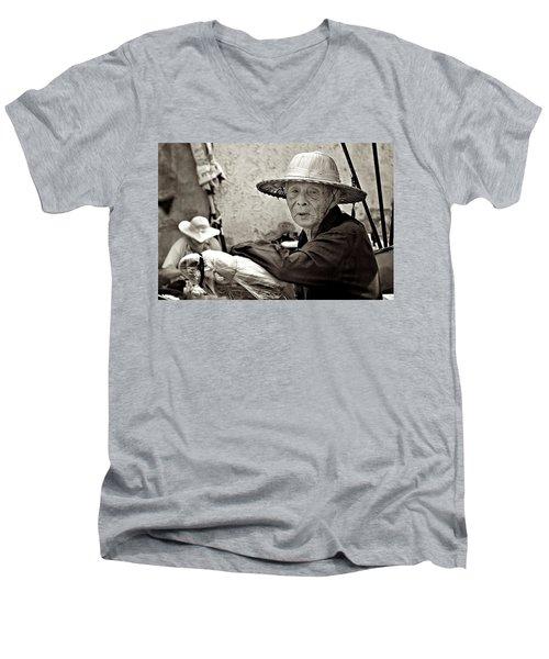 Still Working Men's V-Neck T-Shirt by Valerie Rosen